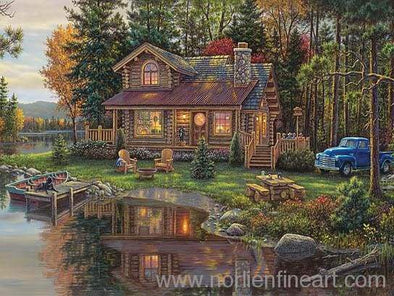 Peace Like a River Cabin - 18 x 24 - Prints & Giclees