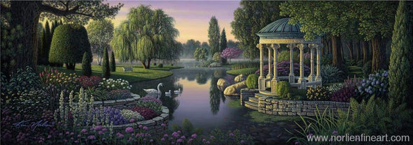Secret Garden - Canvas - 10 X 28 / Canvas / Unstretched - Canvas