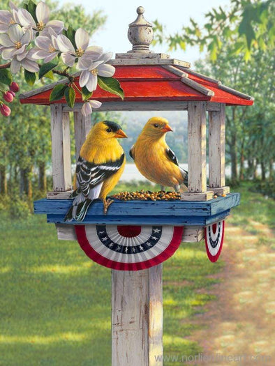 Songbird Patriotic Goldfinches - Print - Prints & Giclees