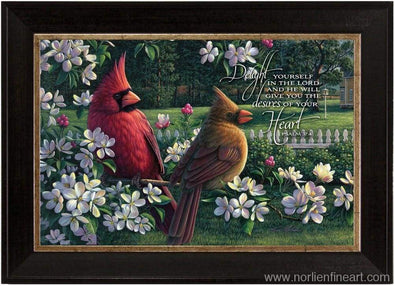Spring Cardinals With Verse Mini - Faith Reflections Mini