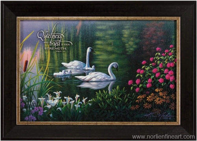 Swan Family With Verse Mini - Faith Reflections Mini