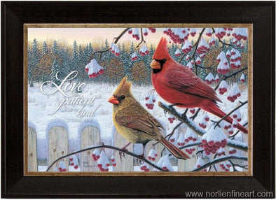 Winter Cardinals With Verse Mini - Faith Reflections Mini