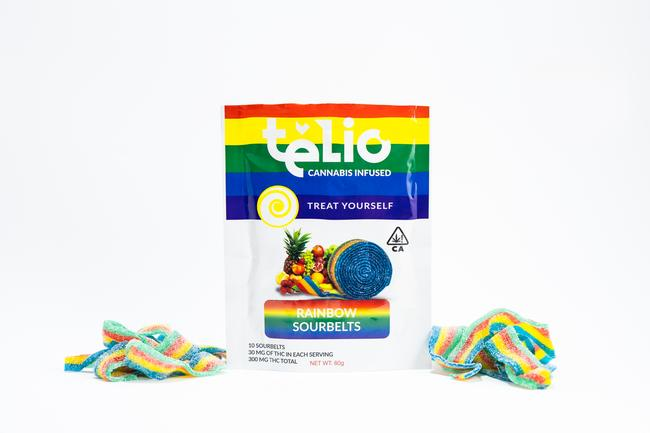 Rainbow Sour Belts 300mg