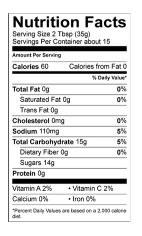 Lamberts Sweet Sauce O'Mine Nutrition Facts. Your Outdoor Store