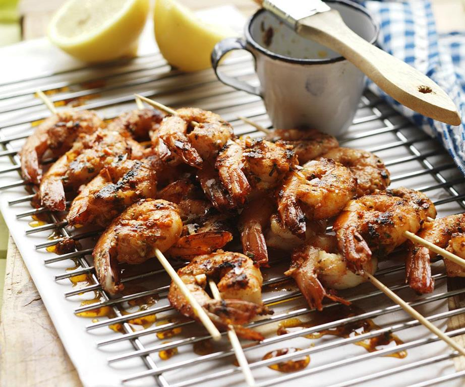 Marinated Chilli Prawn Skewers