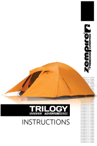 Zempire Adventure Series Trilogy 3 Person Tent Instruction Manual