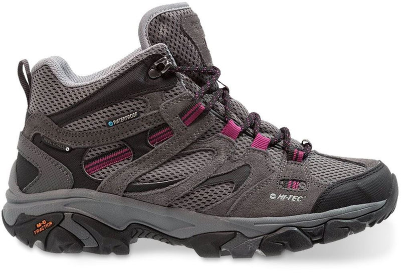 Charcoal/Cool Grey/ Amaranth | Hi-Tec Ravus Vent Mid Waterproof Womens