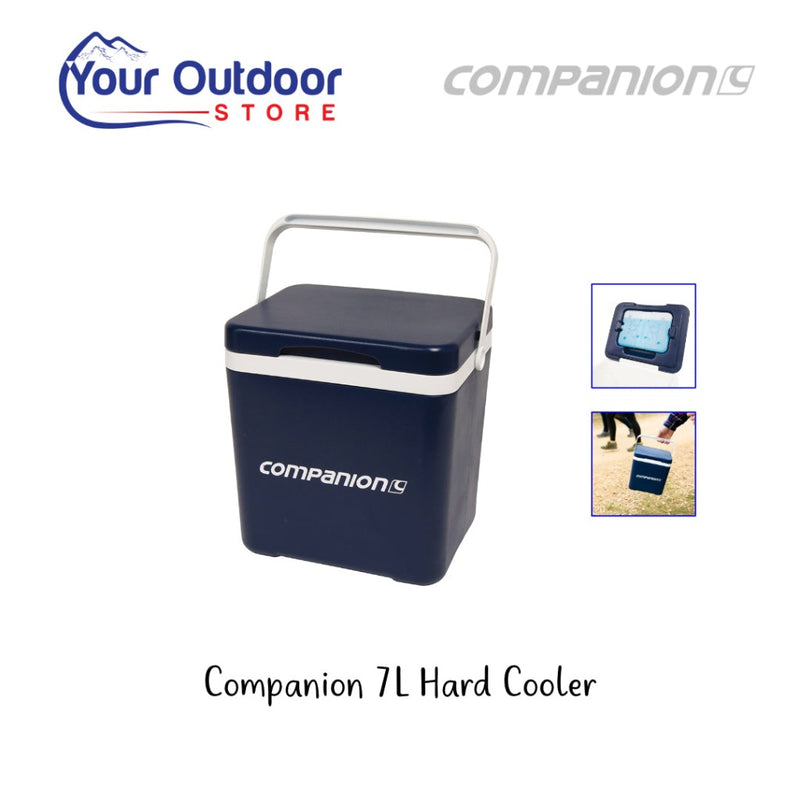 Blue and White | Companion Hard Cooler 14L. Hero