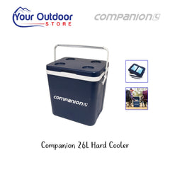 Blue and White | Companion Hard Cooler 26L. Hero Image