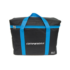 Black / Blue | Companion Aquaheat Carry Bag. Front of bag