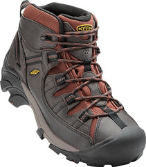 Raven, Tortoise Shell | Keen Targhee II Mid WP Men's. Angled side/front view. Your Outdoor Store