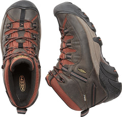 Raven, Tortoise Shell | Keen Targhee II Mid WP Men's. Pair viewed from top, on on its side. Your Outdoor Store
