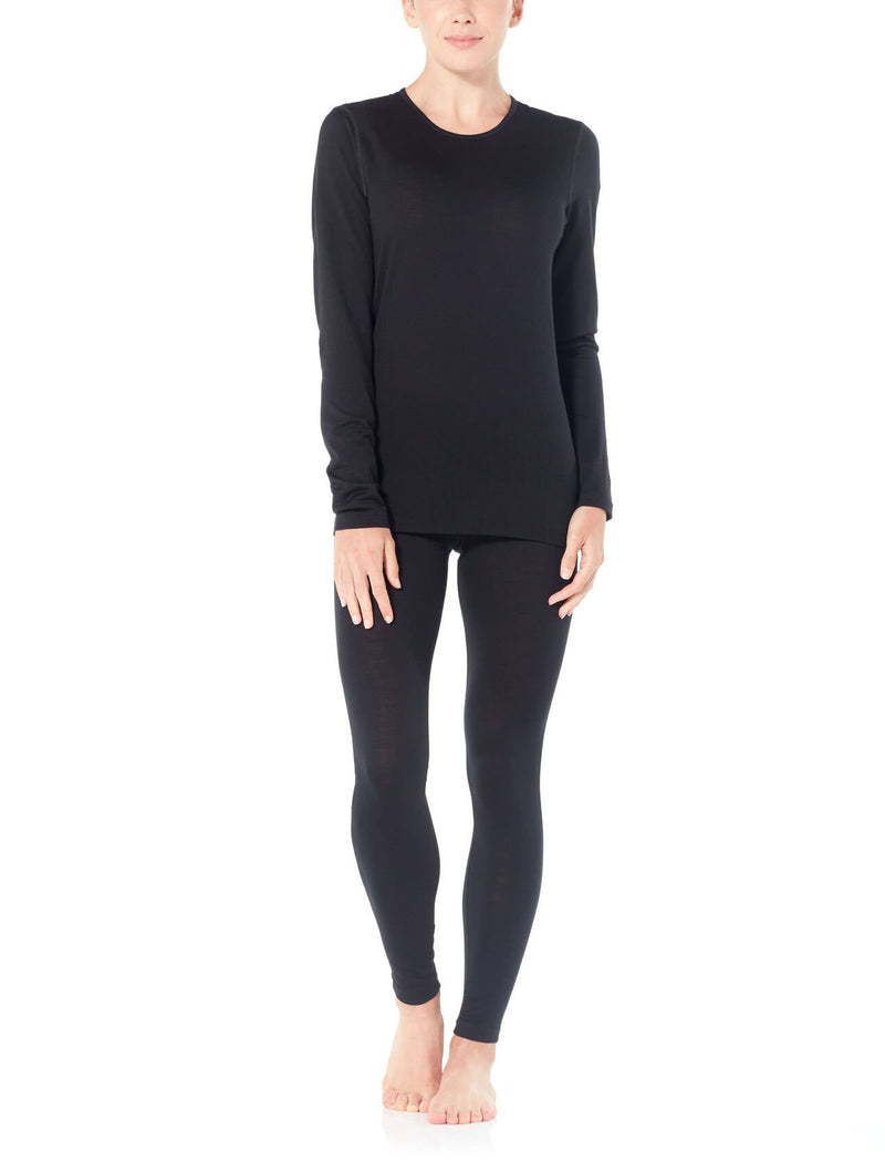 Nightfall | Icebreaker Womens 200 Oasis Thermal Long Sleeve Crewe