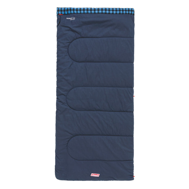 Coleman Sleeping Bag Pilbara C-5 Full View with the top folded back exposing the grey lining