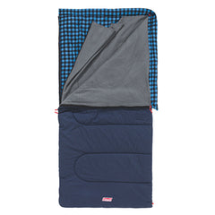 Coleman Sleeping Bag Pilbara C-5 Full View with the top folded back exposing the grey lining which is also partly removed to show more options