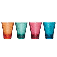 Everclear Tritan 4 Pack Multi Colour Tumbler