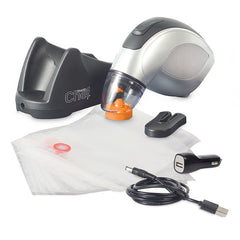 Travel Chef Hand Held Rechargeable Vacuum Sealer Kit with all kit components