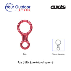 Red | Axis 35kN Aluminum Figure-8