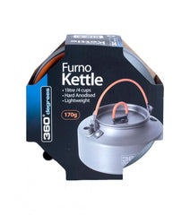 360 Degrees Furno Kettle. Shown in Packaging. Your Outdoor Store