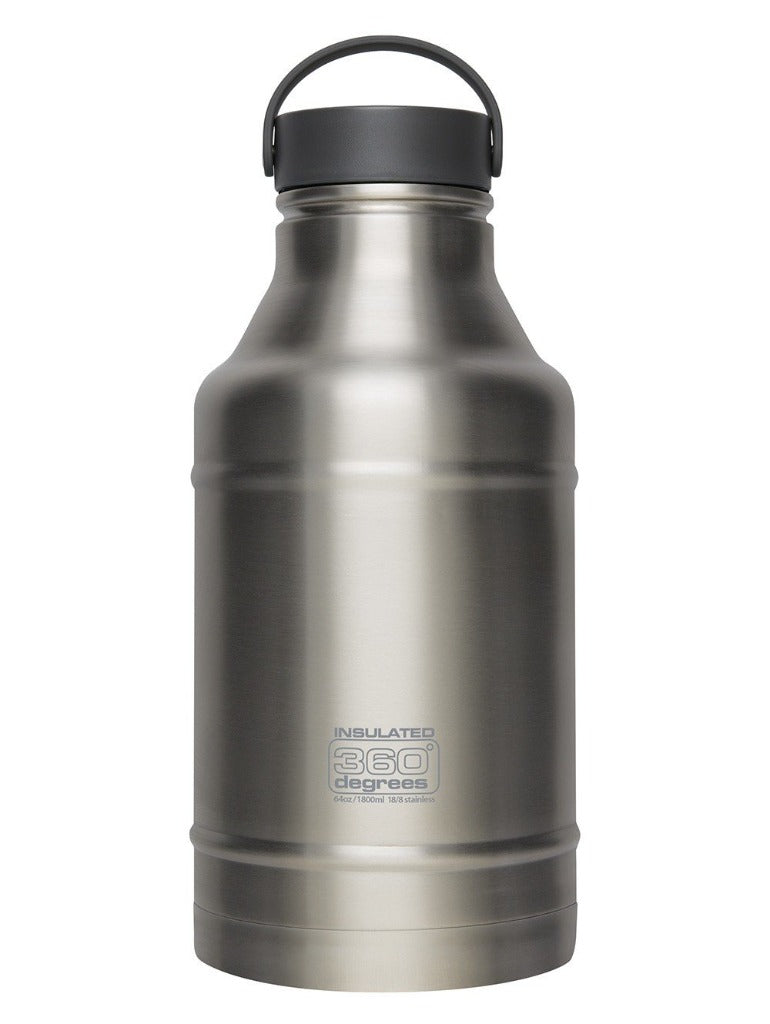 Black | 360 Degrees Stainless Steel Vacuum Insulated Growler