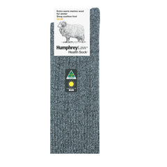 Bluestone Marle | HumphreyLaw Fine Merino Wool Winter Health Sock