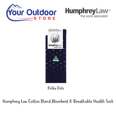 HumphreyLaw Cotton Blend Absorbent & Breathable Health Sock- Pattern