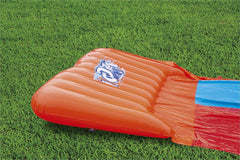Blue Orange | Bestway H20GO Double Slide inflated starting point