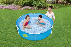 Blue | Bestway First Frame Pool 1.52m x 38cm demo in use