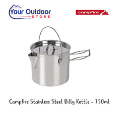 Campfire Stainless Steel Billy Kettle 750ml- Hero Image