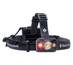 Black | Black Diamond Icon 500 Lumens Black. Red Light View. Your Outdoor Store