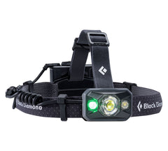 Black | Black Diamond Icon 500 Lumens Black. Green Light View. Your Outdoor Store