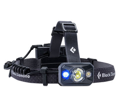 Black | Black Diamond Icon 500 Lumens Black. Blue Light View. Your Outdoor Store