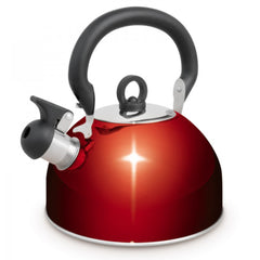 Red | Campfire Stainless Steel Whistling Kettle.  Your Outdoor Store