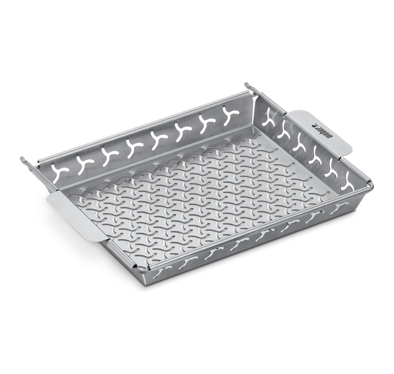 Silver | Weber Elevations Grilling Basket Set