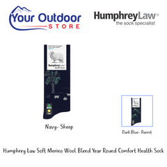 HumphreyLaw Soft Merino Wool Blend Year Round Comfort Health Sock