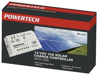 Powertech 12/24v Solar Charge Controller With Led Indicator and USB