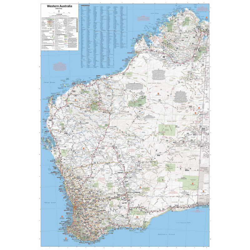 Hema Western Australia Waterproof State Map 11th Edition