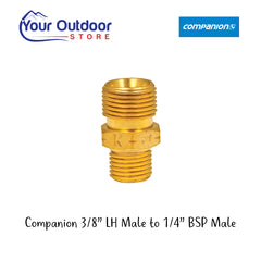 Companion 3/8 in LH Male to 1/4 in BSP Male Adaptor