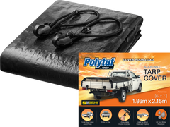Polytuff Cargo Tarp. Black. Your Outdoor Store