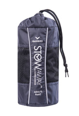 Navy | Rainbird STOWaway Pant storage bag. Rainwear
