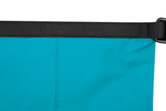 Blue | Sea To Summit Lightweight Dry Sack. Close up of top seam unrolled. external