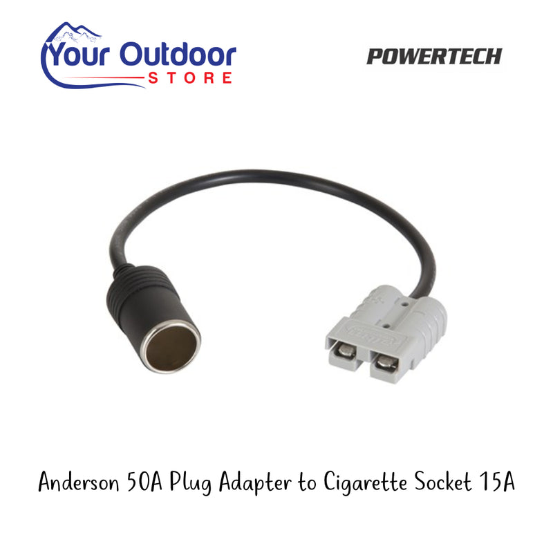 Powertech Anderson 50A Plug Adapter to Cigarette Socket 15A