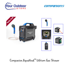 Black / Blue | Companion AquaHeat Lithium Gas Shower- Hero