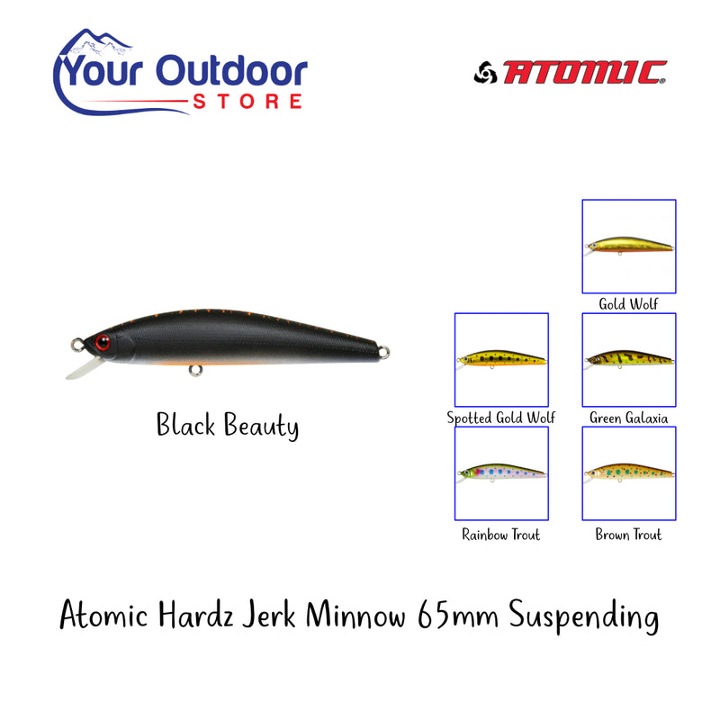 Black Beauty | Atomic Hardz Jerk Minnow 65 Suspending. Hero