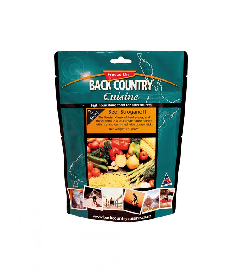 Back Country Beef Stroganoff. 1 Serve . Freeze Dried Food Portions