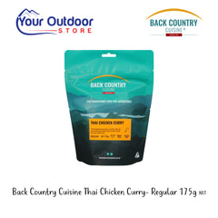 Back Country Cuisine Thai Chicken Curry. 175g net weight. Regular serve