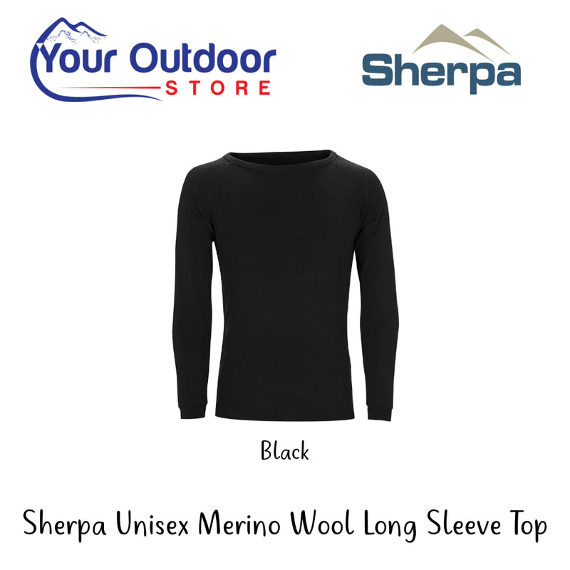 Black | Sherpa Australian Merino Wool Baselayer Top