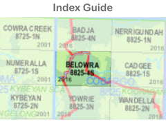 Belowra 8825-4-S NSW Topographic Map 1 25k