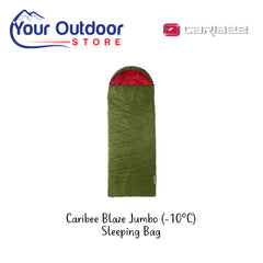 Khaki | Caribee Blaze Jumbo -10 Sleeping Bag. Hero