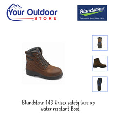 Crazy Horse | Blundstone 143 Unisex Safety Boot Various angles and Images